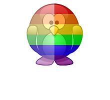 Love U Tees Funny Rainbow Animals Penguin LGBT Pride Week Swag, Unique Rainbow Gifts Photographic Print