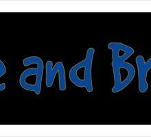 Blue and Brave Sticker