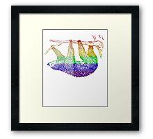 Love U Tees Funny Rainbow Animals Sloth LGBT Pride Week Swag, Unique Rainbow Gifts Framed Print