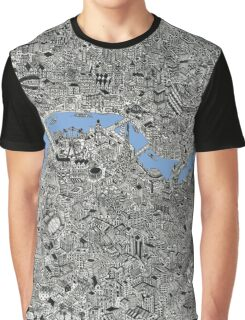 London Map Drawing Graphic T-Shirt