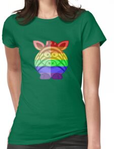 Love U Tees Funny Rainbow Animals Zebra LGBT Pride Week Swag, Unique Rainbow Gifts Womens Fitted T-Shirt