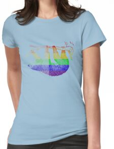 Love U Tees Funny Rainbow Animals Sloth LGBT Pride Week Swag, Unique Rainbow Gifts Womens Fitted T-Shirt