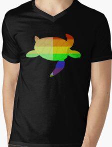 Love U Tees Funny Rainbow Animals Turtle LGBT Pride Week Swag, Unique Rainbow Gifts Mens V-Neck T-Shirt