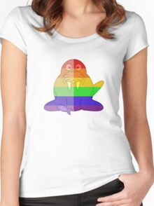 Love U Tees Funny Rainbow Walrus Animals LGBT Pride Week Swag, Unique Rainbow Gifts Women's Fitted Scoop T-Shirt