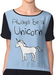 Always Be A Unicorn Chiffon Top