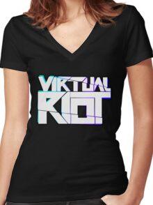 Virtual Riot Merch Women's Fitted V-Neck T-Shirt