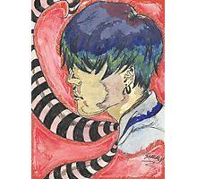 Stripe tie guy Photographic Print