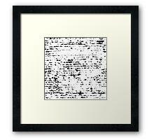 Black texture of real mascara strokes - pattern Framed Print