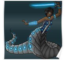 Electric Blue Naga Poster