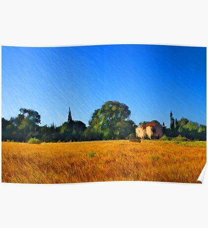 Provence Landscape Poster