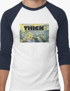 Thick Paint T-shirt and Hardcover Journal Men's Baseball ¾ T-Shirt