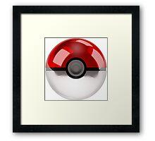 Poke Ball Pokemon Framed Print