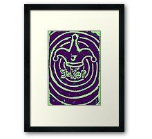 Joker Card Framed Print