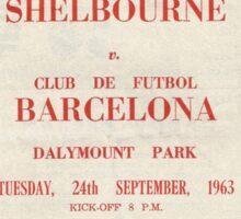 SHELBOURNE VS BARCELONA - PROGRAMME COVER  Sticker