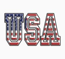 USA, Stars and Stripes, United States of America, Flag, Patriot, America, American, US, on BLACK One Piece - Short Sleeve
