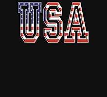 USA, Stars and Stripes, United States of America, Flag, Patriot, America, American, US, on BLACK Unisex T-Shirt