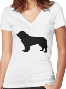 Newfoundland (Dog) Women's Fitted V-Neck T-Shirt
