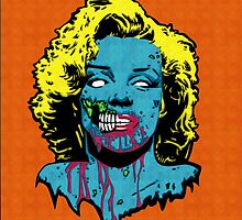 Marilyn monroe zombie by captainnemo23