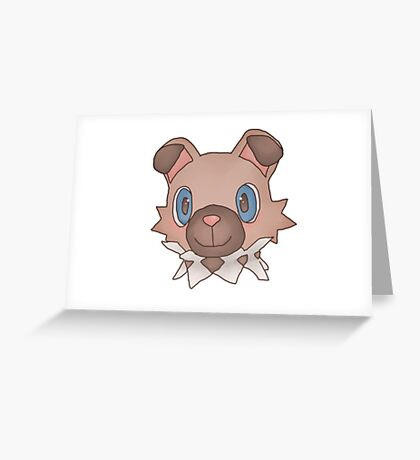 Cute Iwanko / Rockruff Pokemon Greeting Card