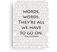 Words, words Canvas Print