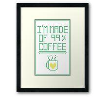 99% Coffee Framed Print
