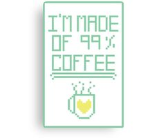 99% Coffee Canvas Print