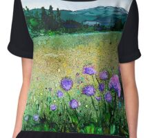 Field of chives Chiffon Top