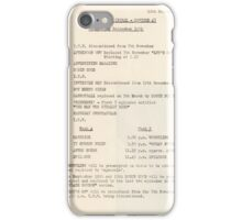 1950s TV Schedule from ABC iPhone Case/Skin