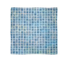 Watercolor Squares Calming Blue Scarf