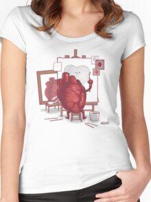 Self Portrait T-shirt femme moulant à col profond