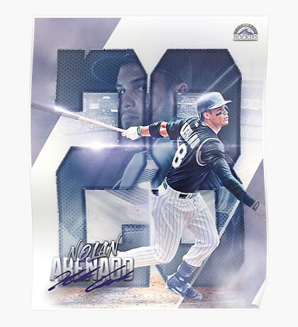 Nolan Arenado Colorado Baseball Sports Art Poster