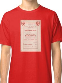 SHELBOURNE VS BARCELONA - PROGRAMME COVER  Classic T-Shirt