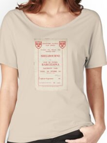 SHELBOURNE VS BARCELONA - PROGRAMME COVER  Women's Relaxed Fit T-Shirt