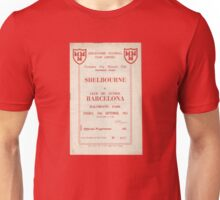 SHELBOURNE VS BARCELONA - PROGRAMME COVER  Unisex T-Shirt