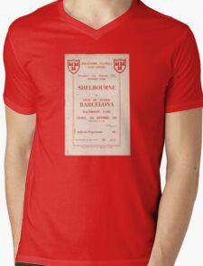 SHELBOURNE VS BARCELONA - PROGRAMME COVER  Mens V-Neck T-Shirt