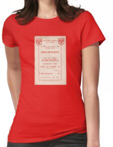 SHELBOURNE VS BARCELONA - PROGRAMME COVER  Womens Fitted T-Shirt