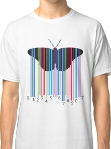 Butterfly with codebars and numbers Classic T-Shirt
