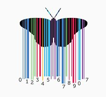 Butterfly with codebars and numbers Unisex T-Shirt
