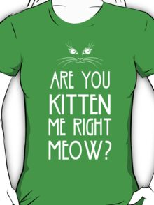 Are You Kitten Me Right Meow? T-Shirt