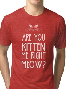 Are You Kitten Me Right Meow? Tri-blend T-Shirt