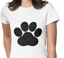 Dog Paw Womens Fitted T-Shirt