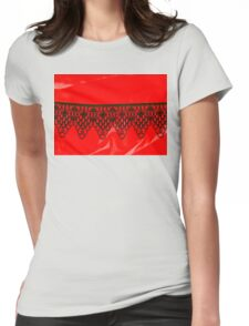 Black Lace Series  Womens Fitted T-Shirt
