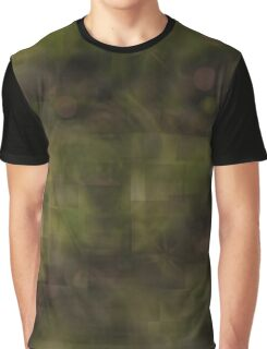 Green Abstract Color Blocks Graphic T-Shirt