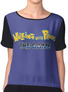 Walking with Phones: the Game Chiffon Top