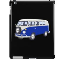 Volkswagen Van, VW Bus, Navy Blue, Camper, Split screen, 1966 Volkswagen, Kombi (North America) iPad Case/Skin