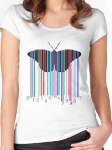 cute and cool modern butterfly design Women's Fitted Scoop T-Shirt