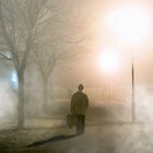 Going Home From Market in a Galway Fog by Mark Tisdale