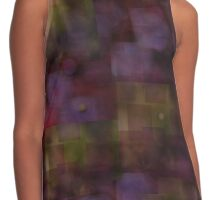 Rose and Gold Tonal Abstract Print Contrast Tank