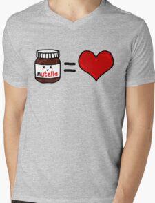 Nutella Is Love Mens V-Neck T-Shirt