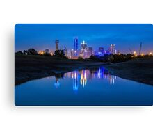 "Dallas ""Police Tribute"" Skyline 2016 Canvas Print"